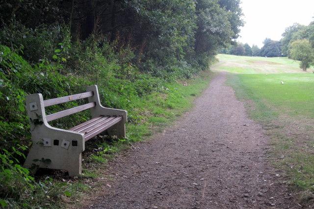 Footpath through the golf course