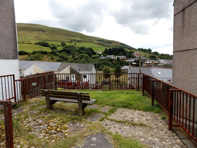 Bench with a view, Blaengarw
