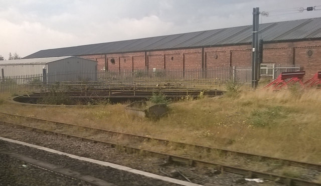 Disused turntable south of Darlington station