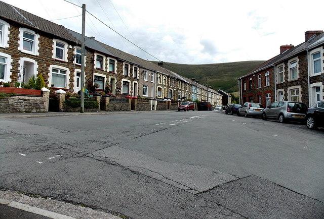 Junction in Blaengarw