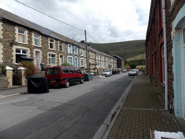 Eastern end of Bryn-Bedw Street, Blaengarw
