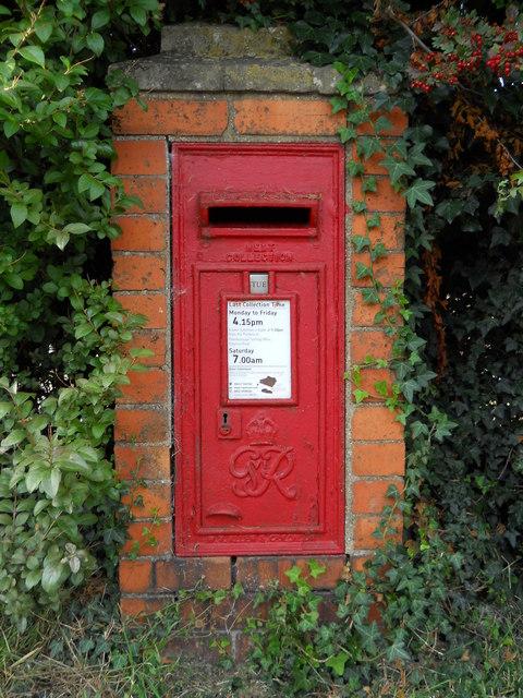 Wall-mounted GVIR postbox, Helpston