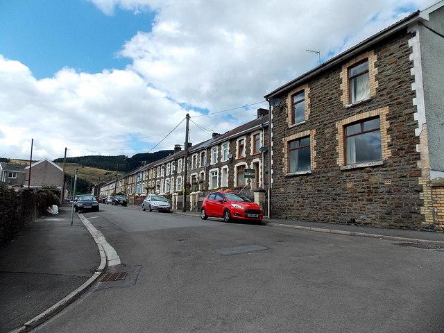 West along Bryn-Bedw Street, Blaengarw