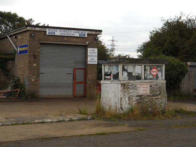 Disused garage and petrol filling station, Helpston
