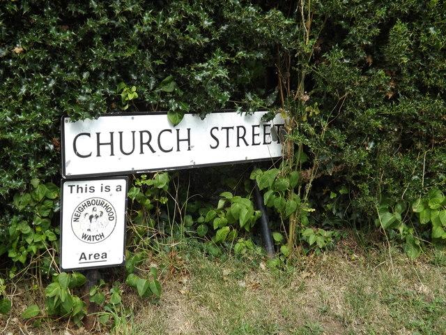 Church Street sign