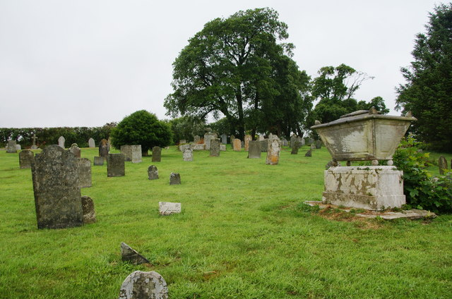 The churchyard of St Mawgan-in-Meneage Parish Church
