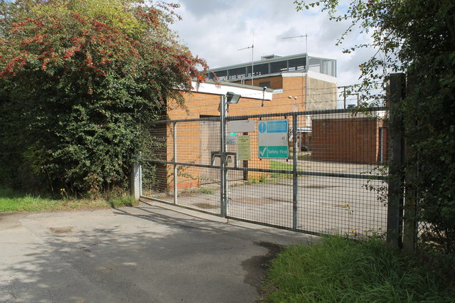 Entrance to Clay Lane Water Treatment Works