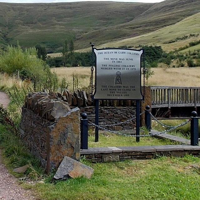 Ocean (or Garw) Colliery plaque, Blaengarw