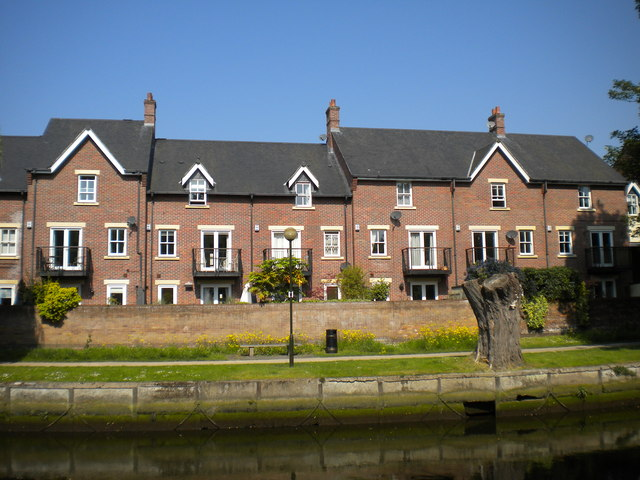 Housing overlooking the River Wensum, Norwich