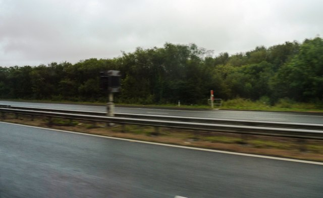 M4 motorway with info box and telephone points