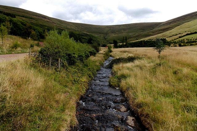 Upstream along Nant Hir, Blaengarw