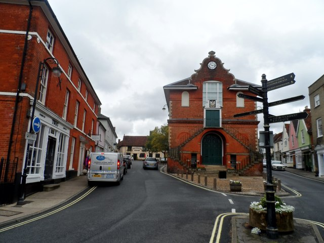 Theatre Street and the Old Court House, Woodbridge
