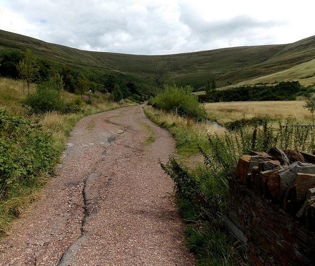 Path along the north bank of Nant Hir, Blaengarw