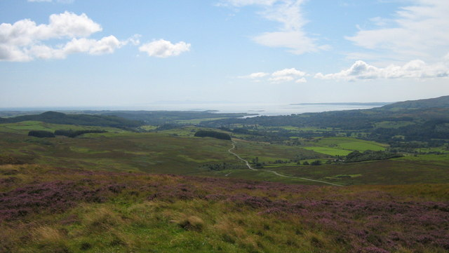 Largoes Moor, Knocktinkle and Fleet Estuary from Fell of Laghead