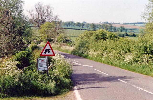 In Evenlode valley at Ascott-under-Wychwood, 1992