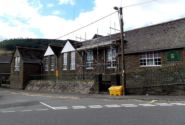 East side of Blaengarw Primary School