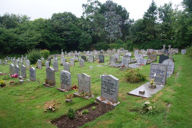 Cemetery in Mawgan