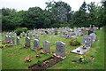 SW7025 : Cemetery in Mawgan by Bill Boaden