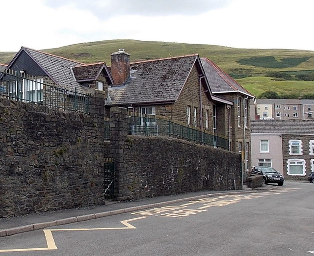 Side entrance to  Blaengarw Primary School