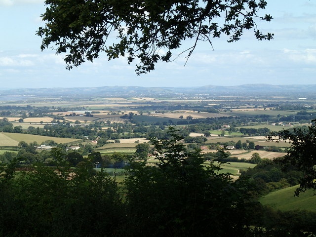 View beyond Goathurst to the Mendips
