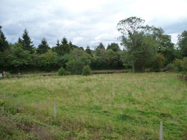 Triangular field between canal and railway
