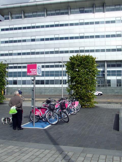 Nextbike Glasgow cycle hire point: Broomielaw