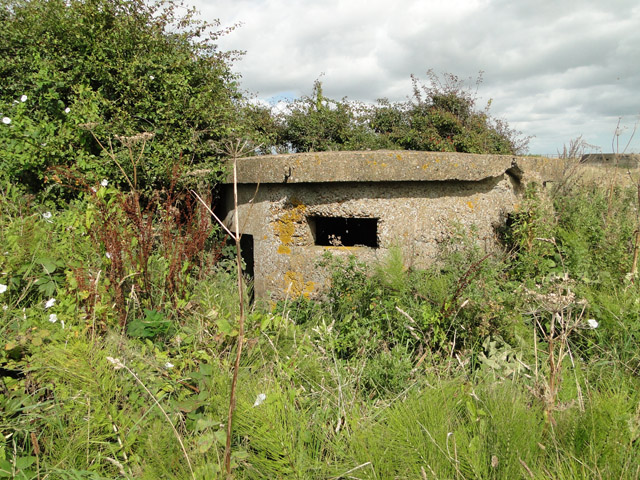 World War One pillbox in a damaged condition