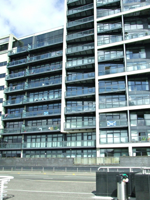 Apartment block at Lancefield Quay
