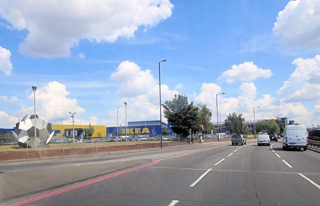 A406 passes IKEA
