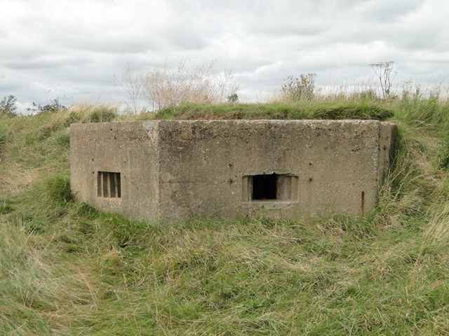 Pillbox overlooking the beach at Hollesley