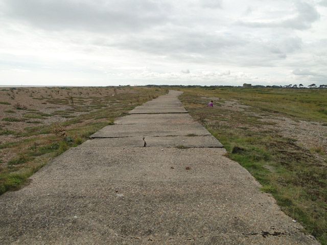 Old military roadway along the beach south of Shingle Street
