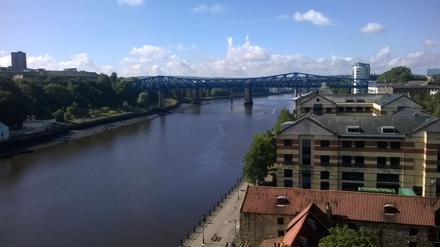 Newcastle: looking upriver from the High Level Bridge