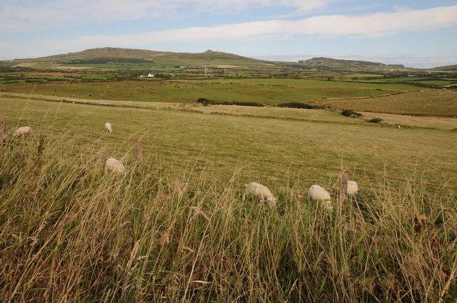 View across the Afon Daron valley