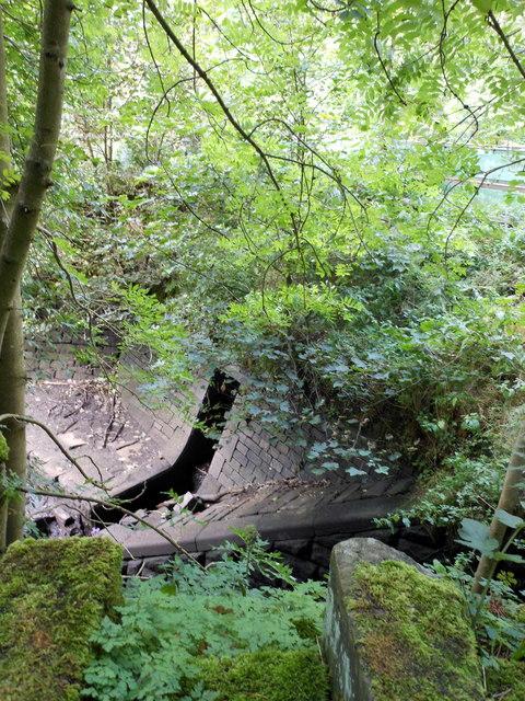 Overflow from settling pool into Ogden Reservoir