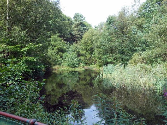 Settling Pool on feed to Ogden Reservoir