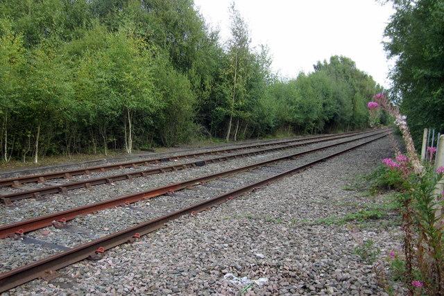 Railway line to Burton