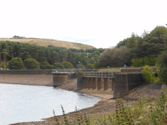 Ogden Reservoir overflow exposed in dry conditions 2014