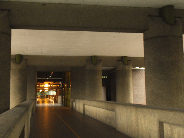 Barbican tour: entrance from Moorgate
