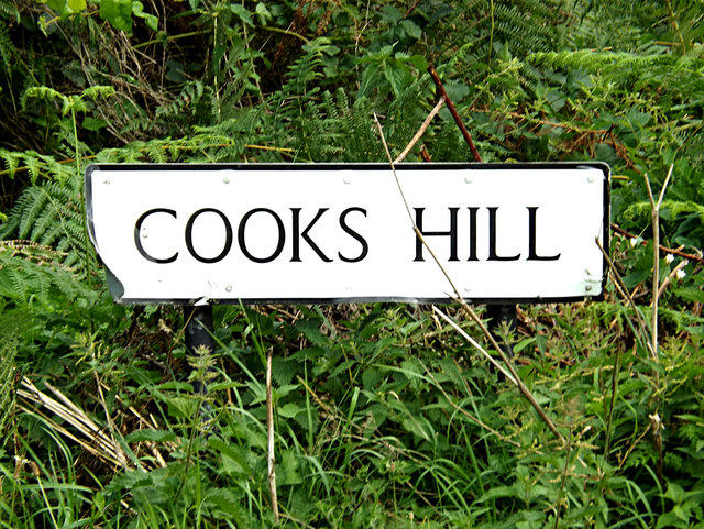Cooks Hill sign