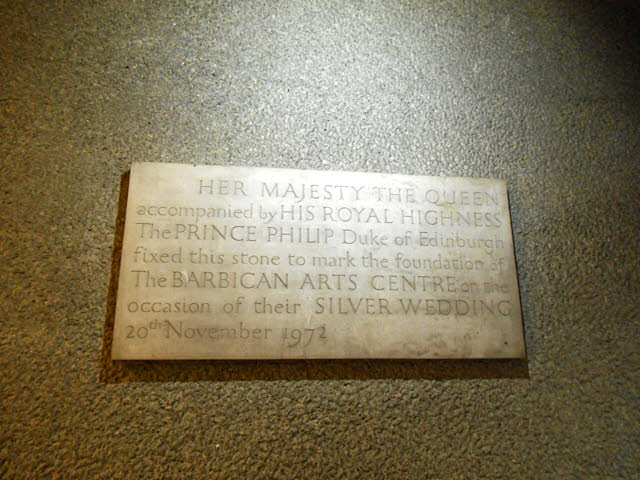 Barbican tour: dedication stone
