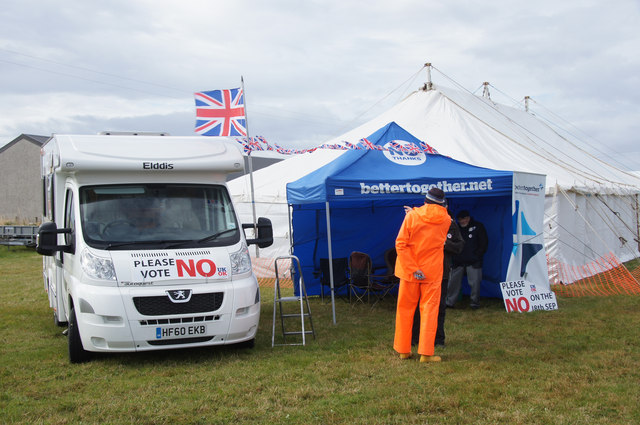 Better Together campaign tent at the Unst Show, Haroldswick