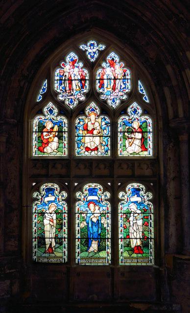 A Morris & Co window, the Cloisters.