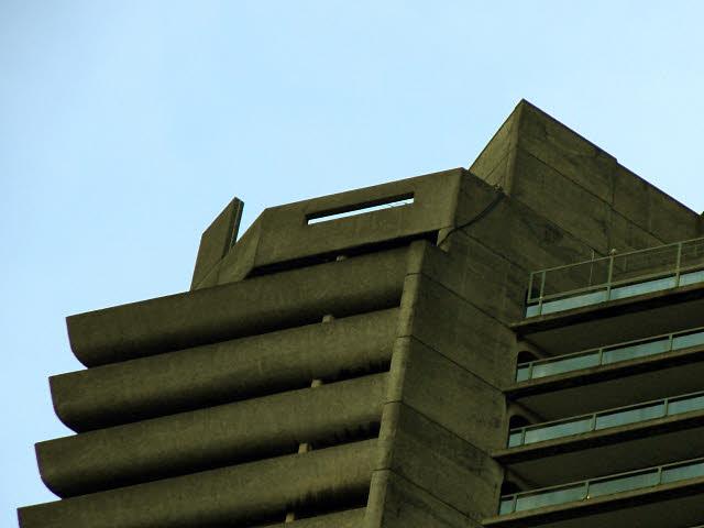 Barbican tour: horizontal slit