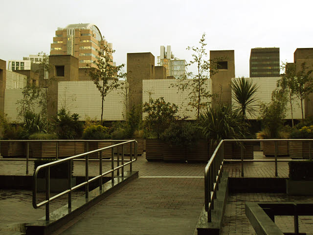 Barbican tour: incongruous ramp