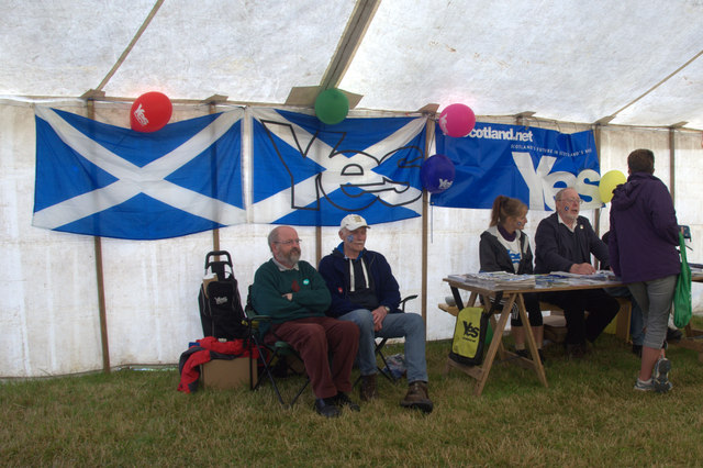 Yes Scotland campaigners at the Unst Show, Haroldswick