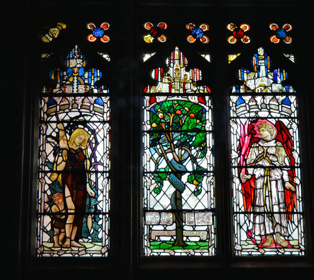 Christopher Whall glass, the Lady Chapel