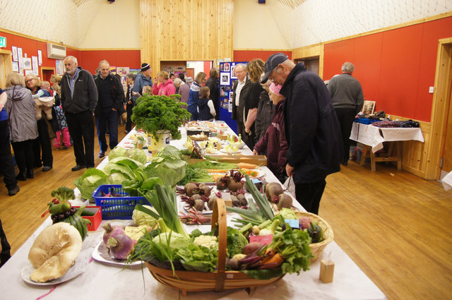 Produce at the Unst Show, Haroldswick
