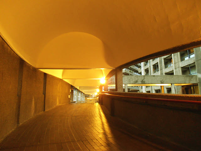 Barbican tour: covered walkway