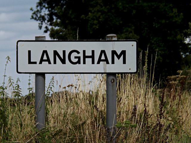 Langham Village Name sign