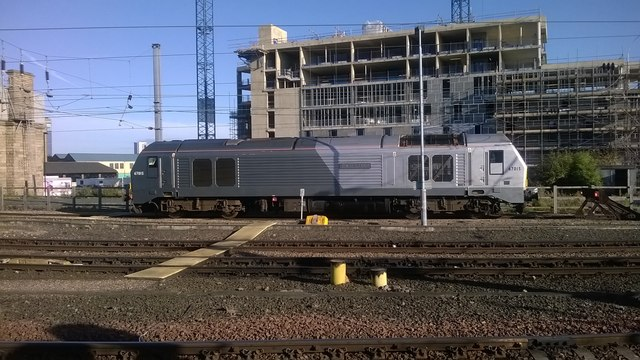 Locomotive stabled at Newcastle Central